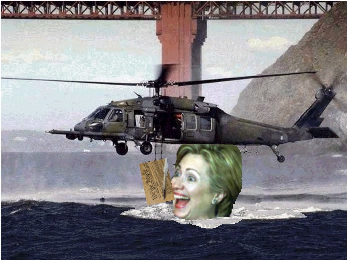 Hillary takes a bite out of her archrival!